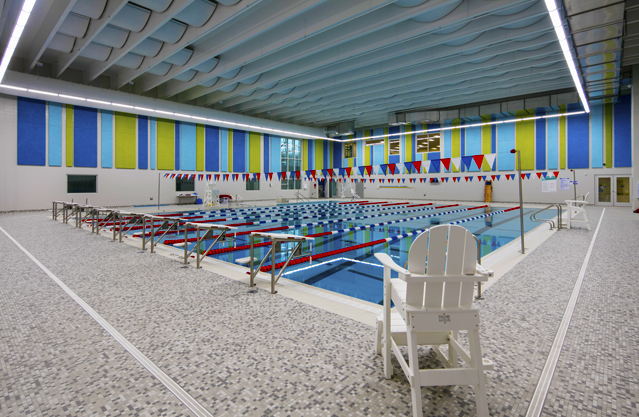 MFB YMCA pool area walls