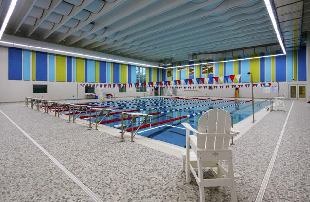 MFB YMCA pool area walls